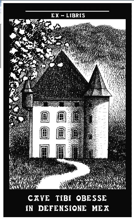 Juan Alvarez dibujo realizado para ex libris