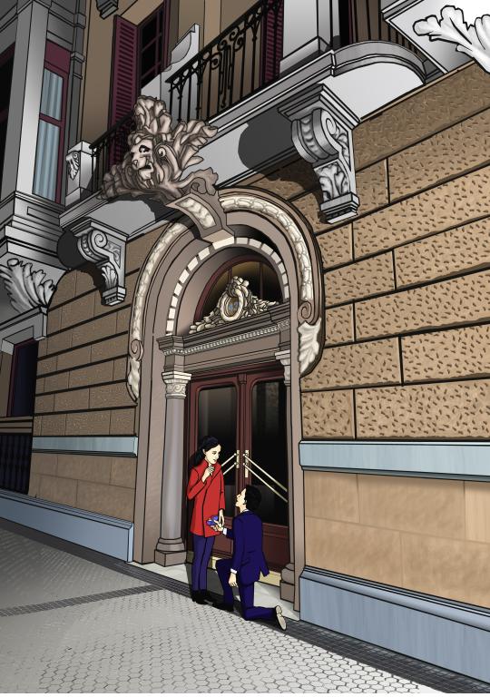 Juan Alvarez pedida en la calle prim